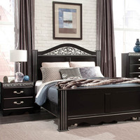 Standard Furniture Odessa Black 2 Piece Poster Bedroom Set in Black