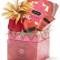 KAMA SUTRA TREASURE TROVE | Strawberry and champagne love kit with oils, powder and more | UncommonGoods