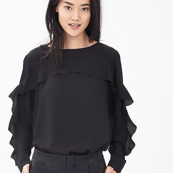 Banana Republic Ruffle Front Blouse
