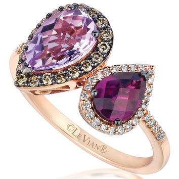 Le Vian® Cotton Candy Amethyst® & Raspberry Rhodolite® Garnet Ring