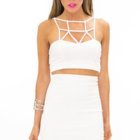PONTI HIGH WAISTED SKIRT - White