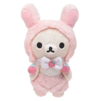 (Pre-Order) Rilakkuma Plush − Korilakkuma Lovely Strawberry Series MR41501