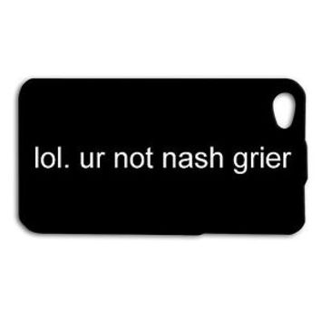 Nash Grier Funny Quote Phone Case Cute Cover Case iPhone 4 5 5c 5s 4s 6 6s iPod
