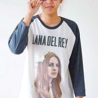 S, M, L -- Lana Del Rey Shirts Alternative Rock Shirts Baseball Tee Shirts Raglan Tee Long Sleeve Shirts Unisex Shirts Women Shirts