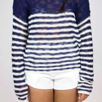 Paper Crane | Next Stripe Sweater in Navy