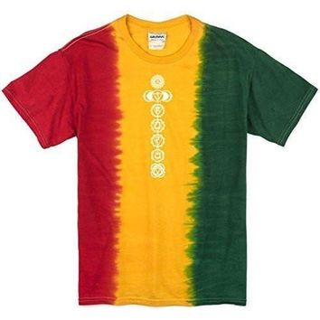 Yoga Clothing for You Mens Rasta White Chakras Tee Shirt