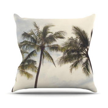 "Catherine McDonald ""Boho Palms"" Coastal Trees Outdoor Throw Pillow"