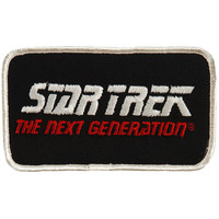 Star Trek Men's Next Generation Embroidered Patch White