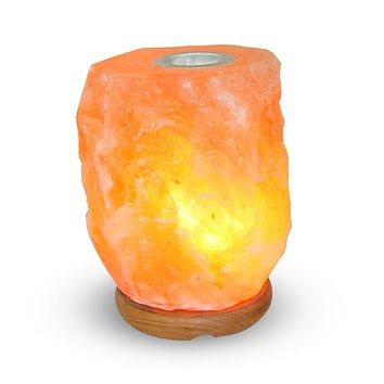 Himalayan Natural Aroma Rock Salt Lamp with Small Plate to Diffuse Essential Oil