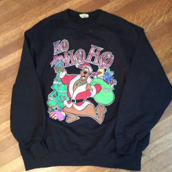 Vintage Christmas Sweatshirt / Ugly Christmas Sweater / Unisex Christmas Sweatshirt / Scooby Doo Sweatshirt