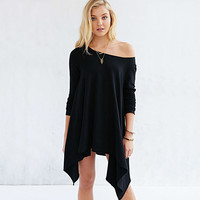 Strong Character Stylish Sexy Strapless Irregular Mermaid Long Sleeve T-shirts [7998631494]