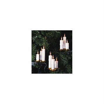 15 Clip-on Christmas Lights - White Dripping Wax Candles