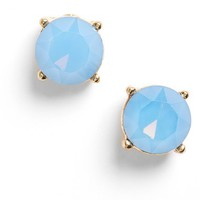 Junior Women's BP. Faceted Stone Stud Earrings - Blue/ Gold