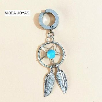 ac ICIKO2Q New fake helix Belly Button Rings Surgical Steel Barbell Dream Catcher Navel Body Piercing Jewelry
