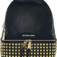 DCCKHI2 Michael Kors Rhea Zip Small Studded Backpack