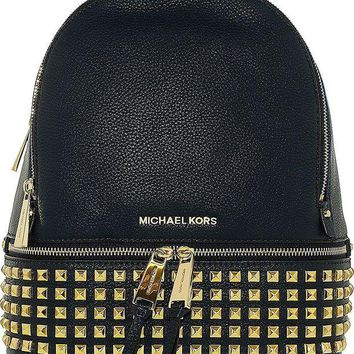 LMFON Michael Kors Rhea Zip Small Studded Backpack