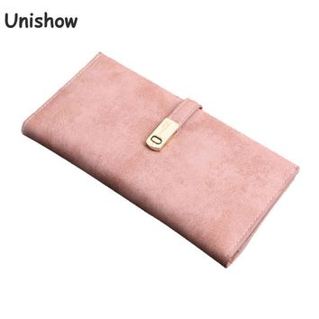 Unishow Brand Vintage Women Thin Wallet Long Female Large Capacity Wallet Lady Coin Purses Clutch Phone Card Holders Carteras