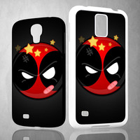 Deadpool Superhero Logo Z0162 Samsung Galaxy S3 S4 S5 (Mini), Note 2 3 4, HTC One M7 M8 Cases