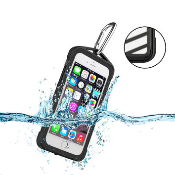 100% 360 degrees Sealed Waterproof for Swim Surfing Under Water Sports protection Mobile Phone Case for iPhone7 4.7 inch Phone C