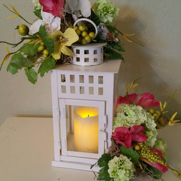 Lantern candle arrangement