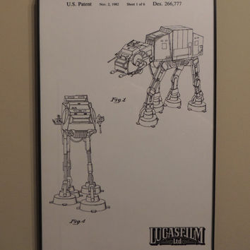 AT-AT Imperial Walker Patent Wall Art Poster