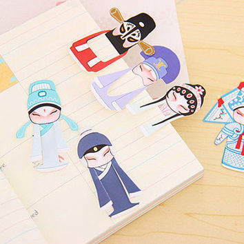 Kawaii Chinese Opera Bookmarks/Planner clips/ Planner Markers