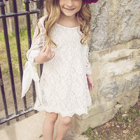 Bailey White Lace Ribbon Dress