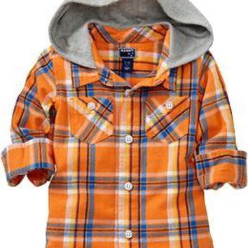 Hooded Flannel Shirts for Baby | Old Navy