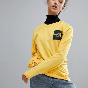The North Face Long Sleeve Fine T-Shirt in Yellow at asos.com
