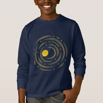 Geek Abstract Stars And Moon Kids Long Sleeve T-Shirt