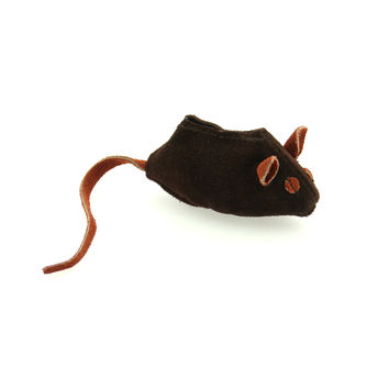 Leather Mouse - Brown [ Cat Toy] Aussie Naturals Brand