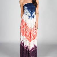 ANGIE Tie Dye Scarf Maxi Dress