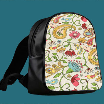 Vintage Paisley Cute Twitte for Backpack / Custom Bag / School Bag / Children Bag / Custom School Bag *