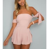 BIJOUR PLAYSUIT - Blush