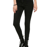 Black Acid Wash Skinny Jeans