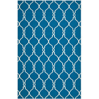 Safavieh DHU415A-3 Dhurries Dark Blue Rectangle: 3 Ft. In. x 5 Ft. In. Area Rug - (In Rectangular)
