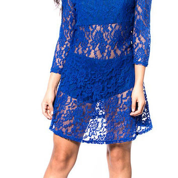 Peek-a-boo Lace Dress