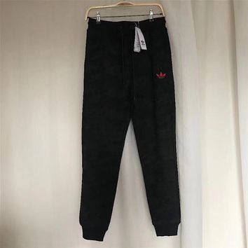 Adidas Fashion Women Camo Black Casual Sport Pants Sweatpants