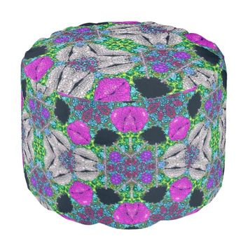 Animal Print Abstract Pattern Poufs