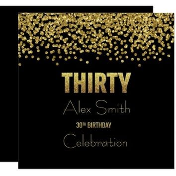 Customizable 30th Birthday PARTY INVITATION