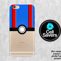 Great Pokeball iPhone 6s Case iPhone 6 Case iPhone 6 Plus iPhone 6s Plus iPhone 5c iPhone 5 iPhone SE Case Pokemon Go Great Ball Blue Red