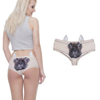 Talk To Me in French Bulldog 3D Image Panties