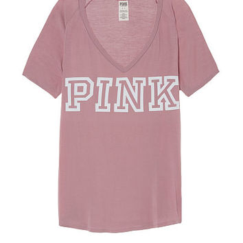 Super Soft Slouchy V-Neck Tee - PINK - Victoria's Secret