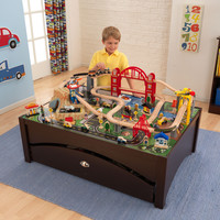KidKraft Metropolis Train Table and Set - 17935