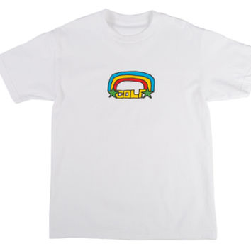 GOLF RAINBOW TEE WHITE