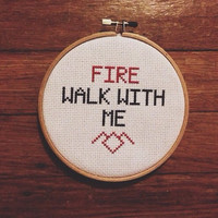 Fire Walk With Me Twin Peaks Cross Stitch