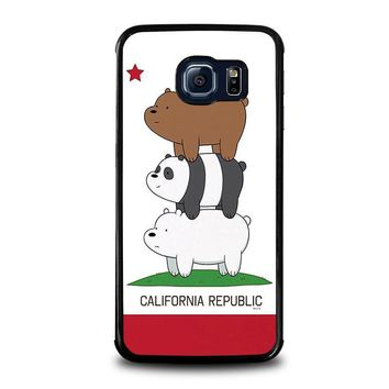 we bare bears california republic samsung galaxy s6 edge case cover  number 1