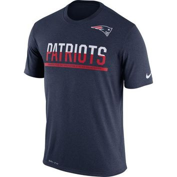 Men's New England Patriots Nike Navy Team Practice Legend Performance T-Shirt
