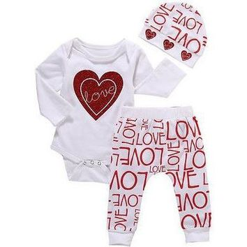 Baby Girl Romper 3pc set