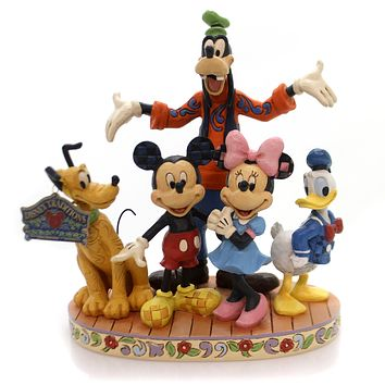 Jim Shore THE GANG'S ALL HERE Polyresin Mickey Minnie Donald 4056752